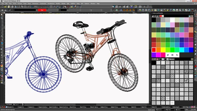 Powerful 2D/3D drafting, modelling, and photorealistic rendering