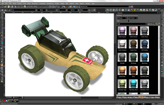 Professional 2D/3D drafting, modelling, & photorealistic rendering.
