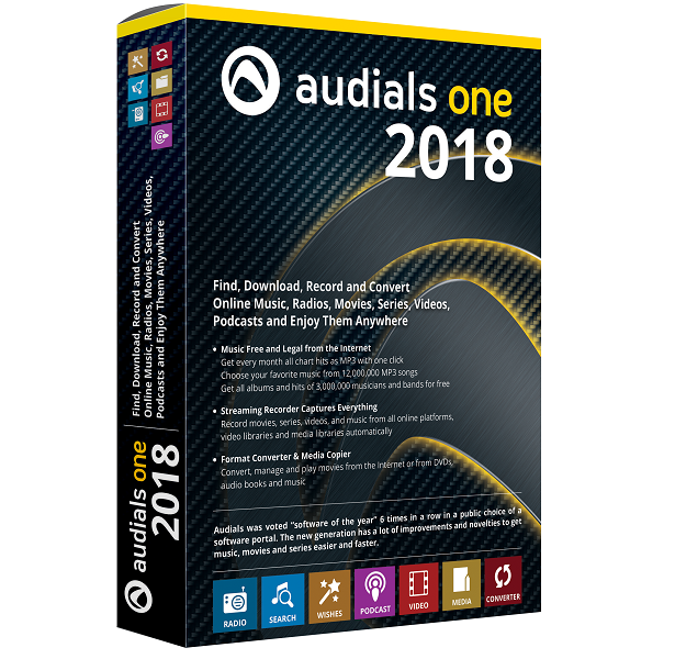 Audials One 2018.1.47800.0 Crack Patch & Keygen Full Version
