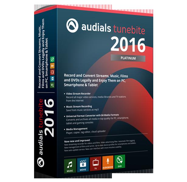 Audials Tunebite 2016 Platinum Avanquest
